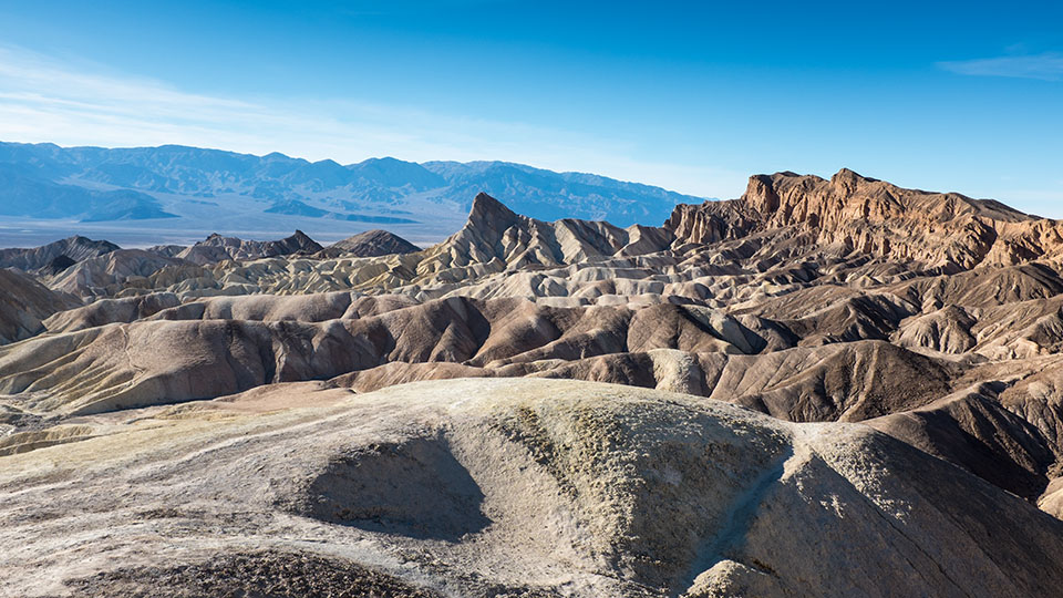 Zabriskie Point in the afternoon